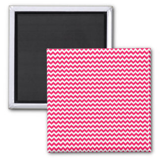 Pink and White Chevron Stripe Fridge Magnet