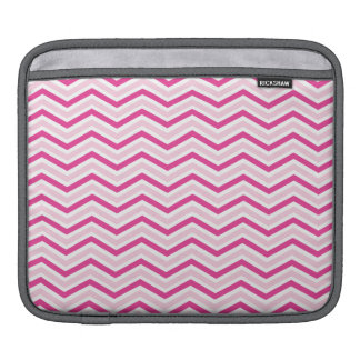 Pink and White Chevron Stripes Sleeves For iPads