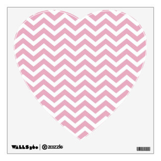 Pink and white chevron wall sticker