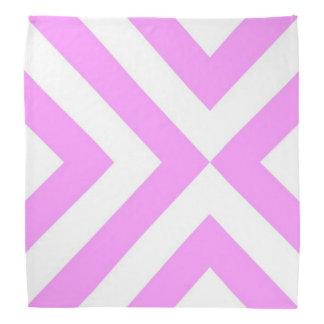Pink and White Chevrons Bandana