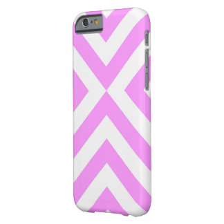 Pink and White Chevrons Barely There iPhone 6 Case