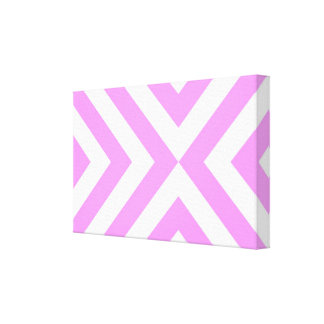 Pink and White Chevrons Canvas Print