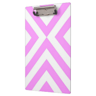 Pink and White Chevrons Clipboard