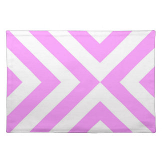Pink and White Chevrons Cloth Place Mat
