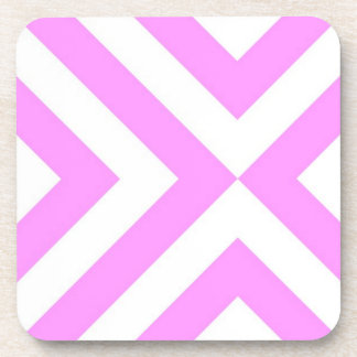 Pink and White Chevrons Coaster