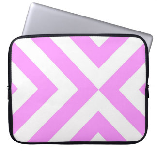 Pink and White Chevrons Computer Sleeve