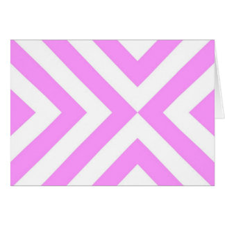 Pink and White Chevrons Congratulations Card