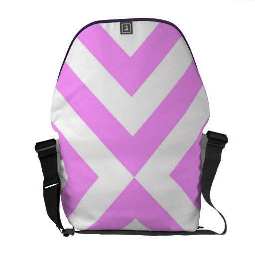 Pink and White Chevrons Courier Bag