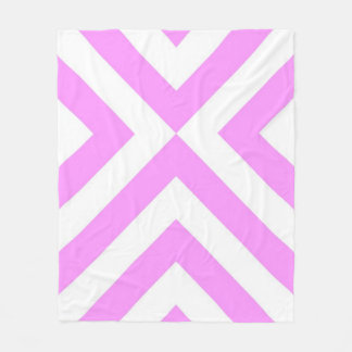 Pink and White Chevrons Fleece Blanket
