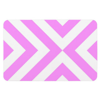 Pink and White Chevrons Flexible Magnet