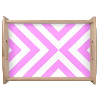Pink and White Chevrons Food Trays