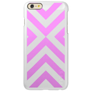 Pink and White Chevrons Incipio Feather® Shine iPhone 6 Plus Case