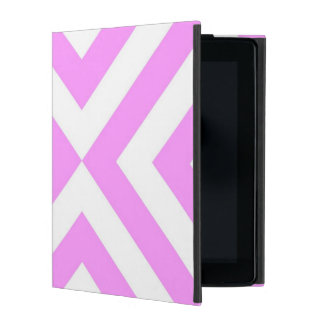 Pink and White Chevrons iPad Case