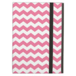 Pink and white chevrons iPad cover