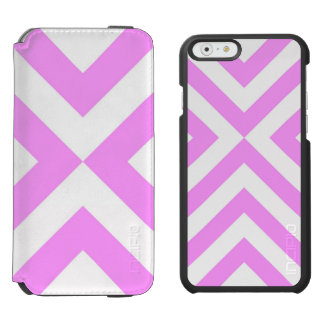 Pink and White Chevrons iPhone 6/6s Wallet Case