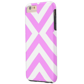 Pink and White Chevrons iPhone 6 Plus Tough Case