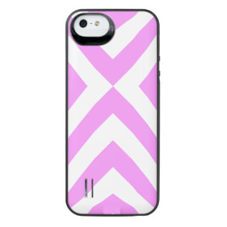 Pink and White Chevrons iPhone SE/5/5s Battery Case