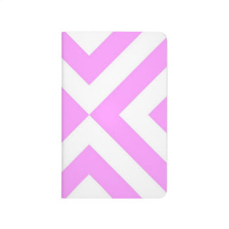 Pink and White Chevrons Journal