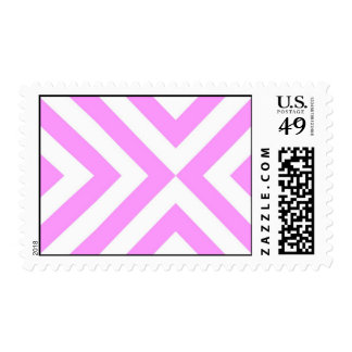 Pink and White Chevrons Postage