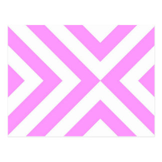 Pink and White Chevrons Postcard