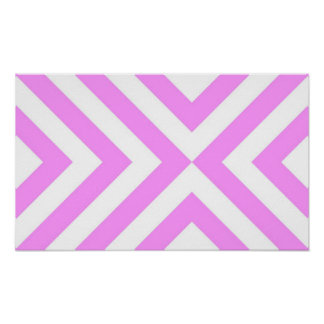 Pink and White Chevrons Poster