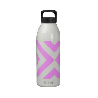Pink and White Chevrons Reusable Water Bottles
