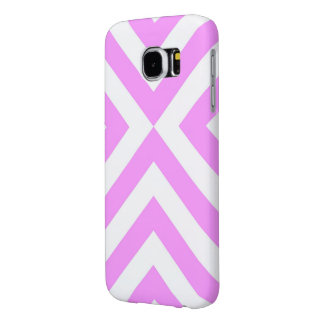 Pink and White Chevrons Samsung Galaxy S6 Cases