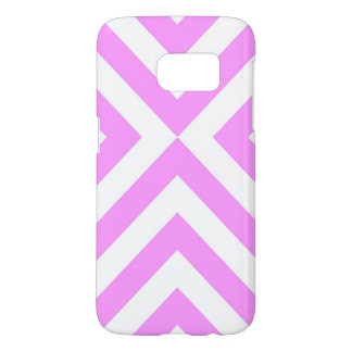 Pink and White Chevrons Samsung Galaxy S7 Case
