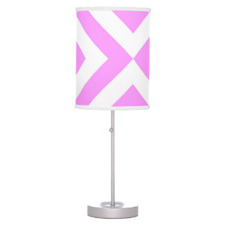 Pink and White Chevrons Table Lamps