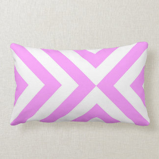 Pink and White Chevrons Throw Pillow