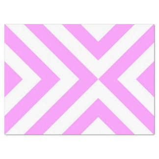 Pink and White Chevrons Tissue Paper