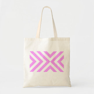 Pink and White Chevrons Tote Bag