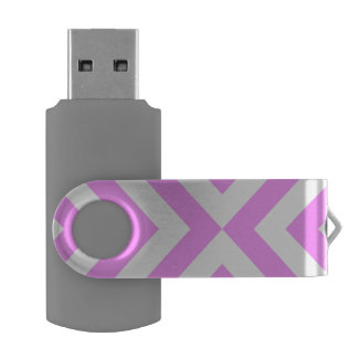 Pink and White Chevrons USB Flash Drive