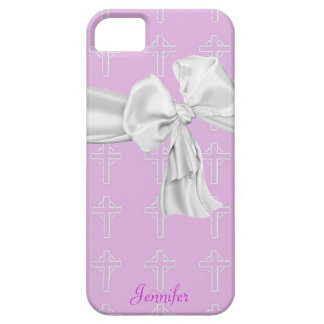 Pink and White Christian iPhone 5 Case