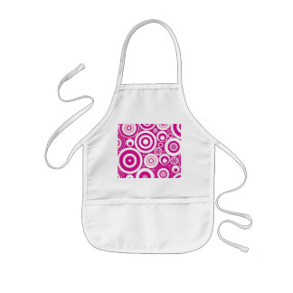 Pink and White Circle Pattern Aprons