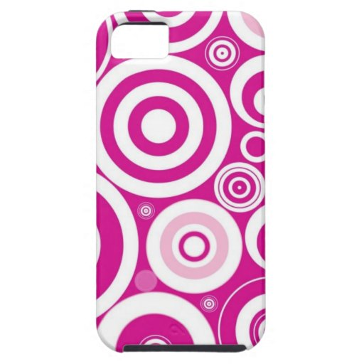 Pink and White Circle Pattern iPhone 5 Case