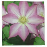 Pink and White Clematis Spring Flower Napkin