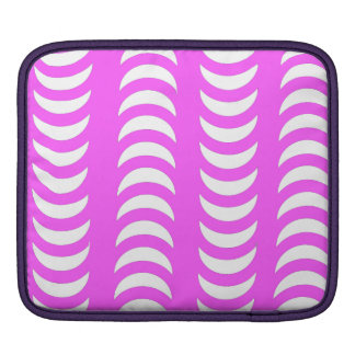 Pink And White Crescent Moons Sleeve For iPads
