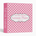 Pink and White Customized Lesson Plan Binder