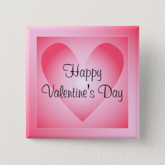 Pink and white cute heart button