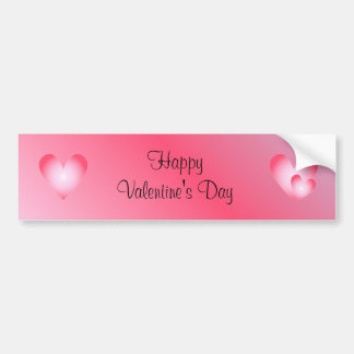 Pink and white cute hearts bumper sticker