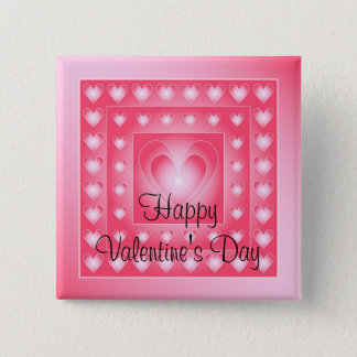 Pink and white cute hearts button
