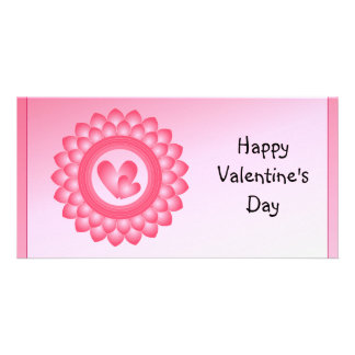 Pink and white cute hearts card