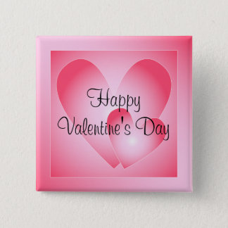 Pink and white cute hearts pinback button
