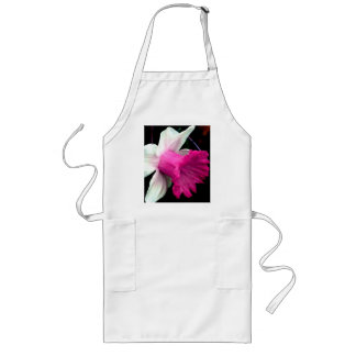 Pink and White Daffodil Long Apron