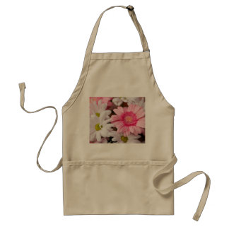 Pink and White Daisies Adult Apron