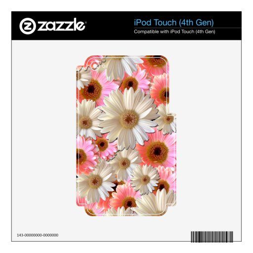 Pink and White Daisies Decal For iPod Touch 4G