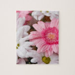 Pink and White Daisies Jigsaw Puzzles
