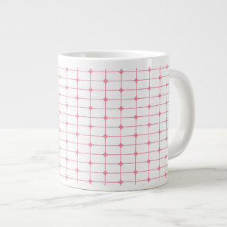 Pink and White Dot Matrix Jumbo Mug