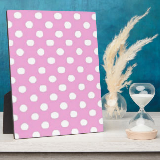 Pink and White Dot Plaque